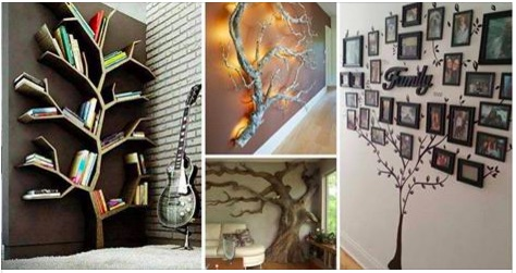 28 Increbles formas de decorar tus paredes con rboles